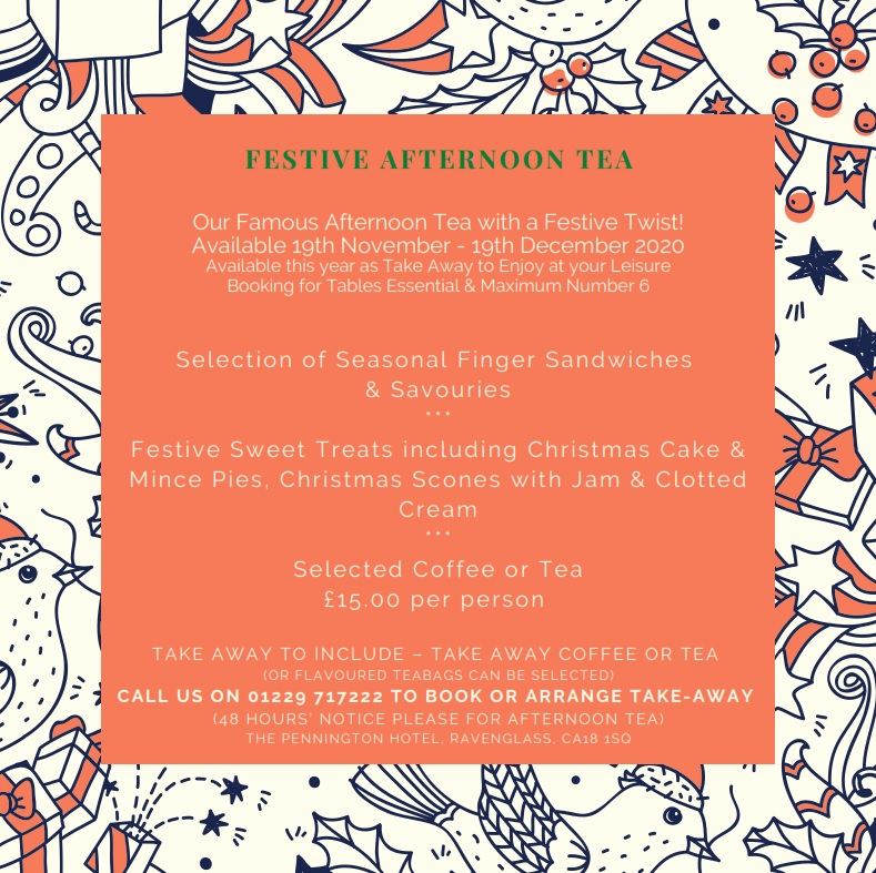 Festive Afternoon Tea - Eat In or Takeaway!