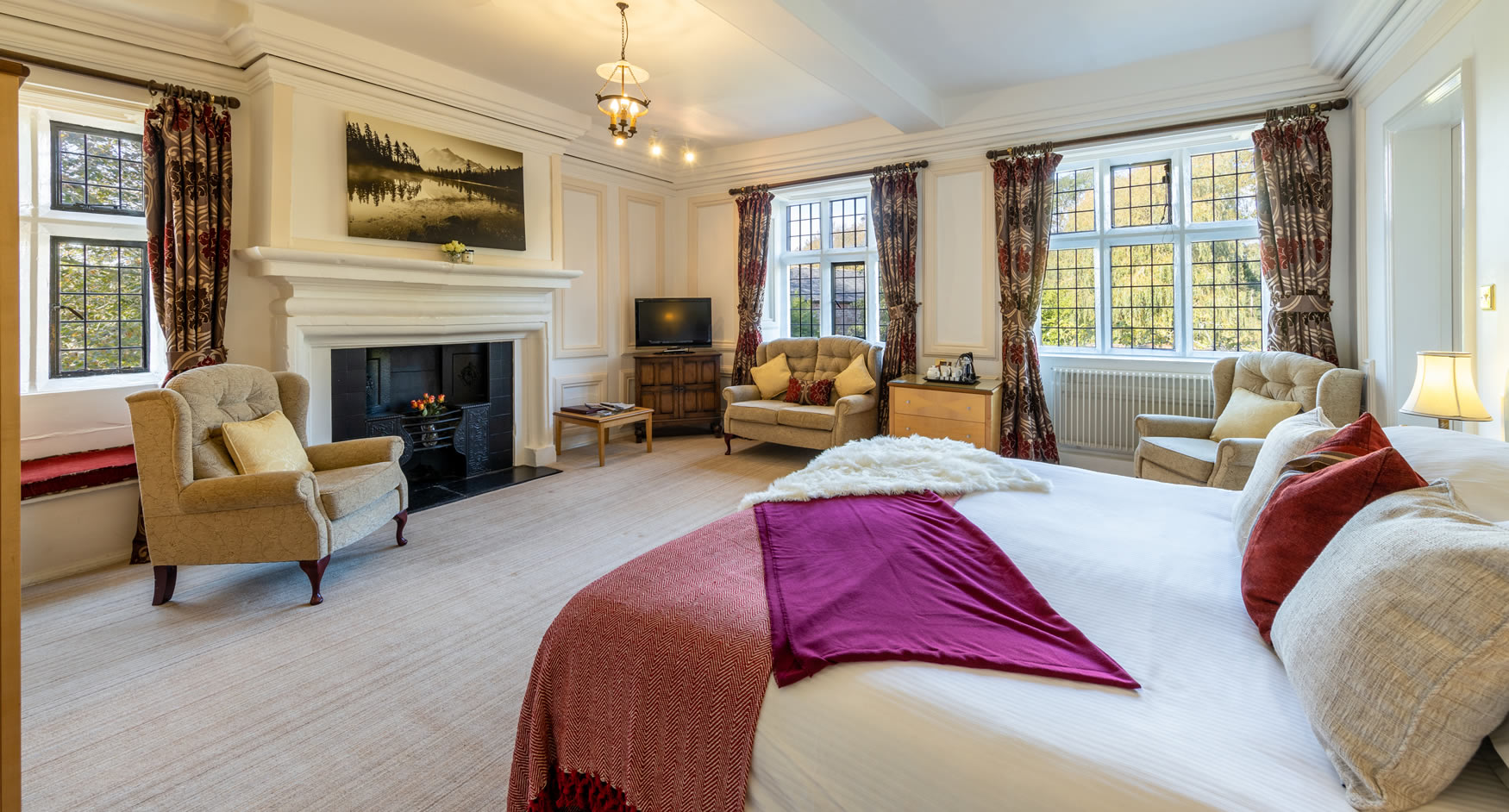 Bedrooms at Sella Park Country House Hotel