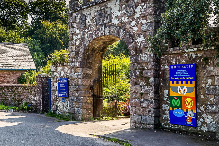 Entrance to Muncaster Castle & Gardens
