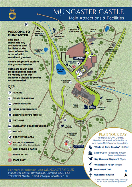Muncaster Castle & Gardens Site Plan