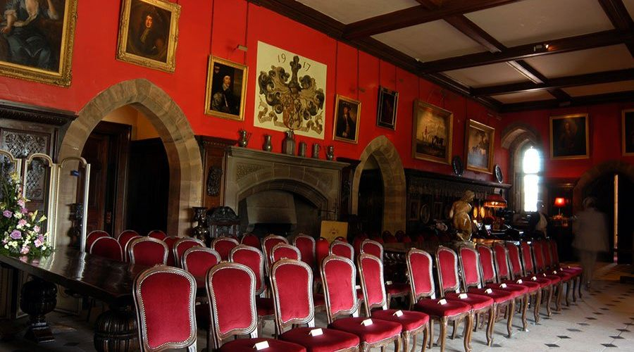 The Great Hall at Muncaster Castle